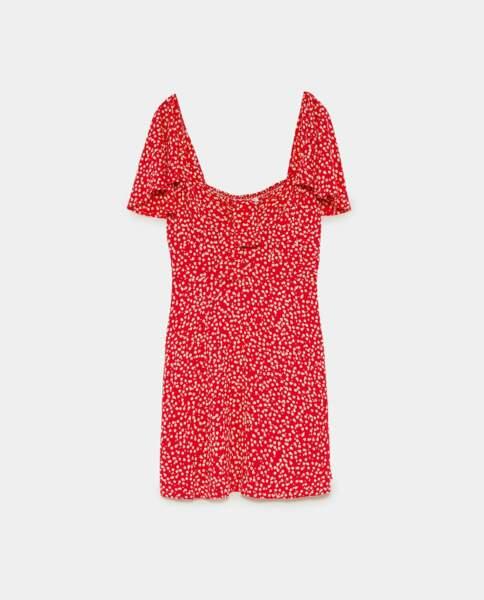 Robe à imprimé floral, Zara, 39,95 euros