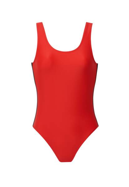 Maillot de bain une pièce rouge, Monoprix x Cardo, 55,30 euros