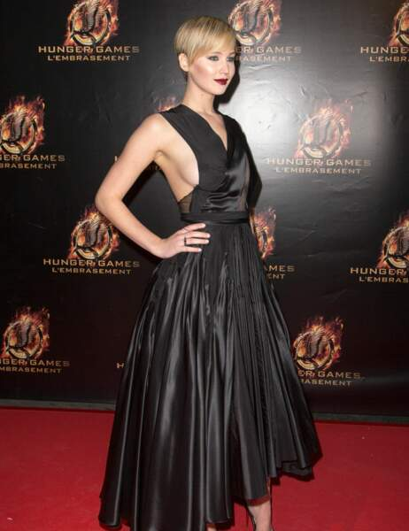 Jennifer Lawrence à l'avant-première parisienne d'Hunger Games ce week-end