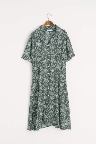 Robe imprimée à boutonnage, Olive Clothing, 90 euros