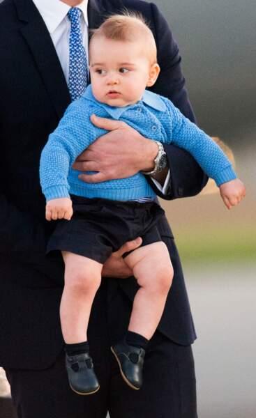 Anniversaire du Prince George - Au bout de 14 jours de voyage, George pose déjà comme un vrai pro
