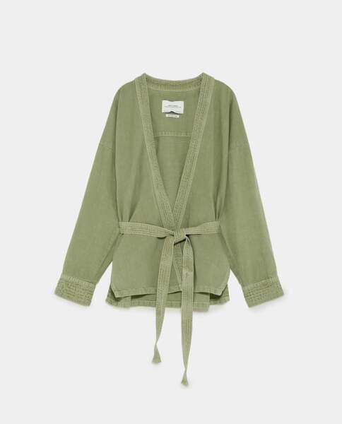 Veste kimono, Zara, 49,95 euros