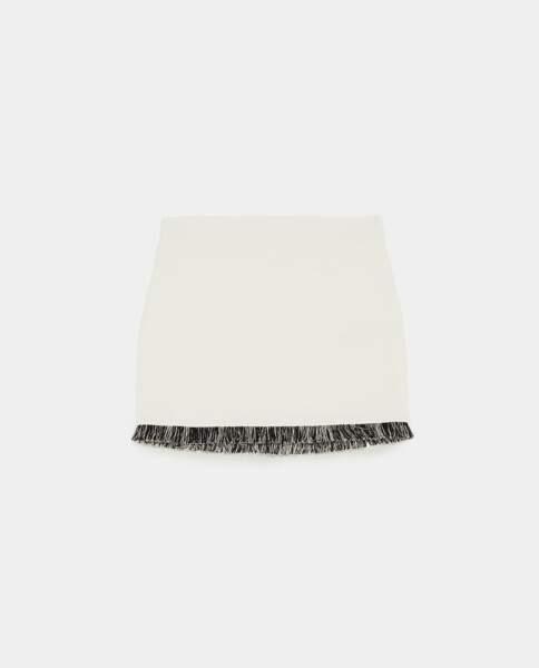 Mini-jupe effet tweed, Zara, 12,95 euros