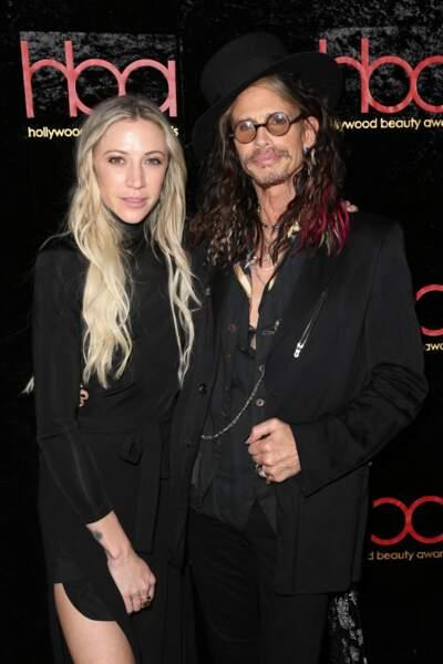 Aimee Ann Preston et Steven Tyler aux Hollywood Beauty Awards