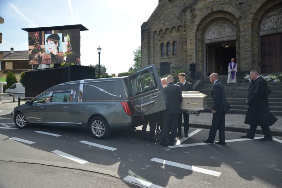 Obsèques de Maurane en l'église Notre-Dame des Grâces à Woluwe-Saint-Pierre en Belgique