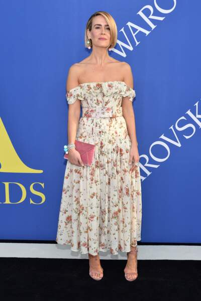 Sarah Paulson aux CFDA Fashion Awards 2018