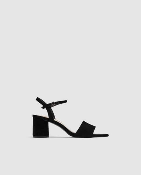 Sandales à talon large, Zara, 29,95 euros