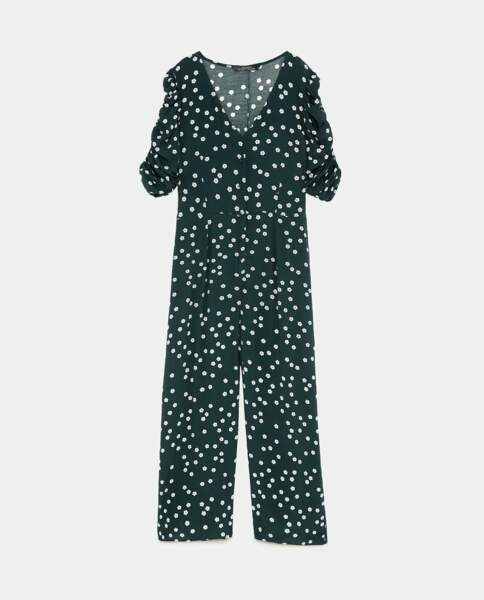 Combinaison à fleurs, Zara, 49,95 euros