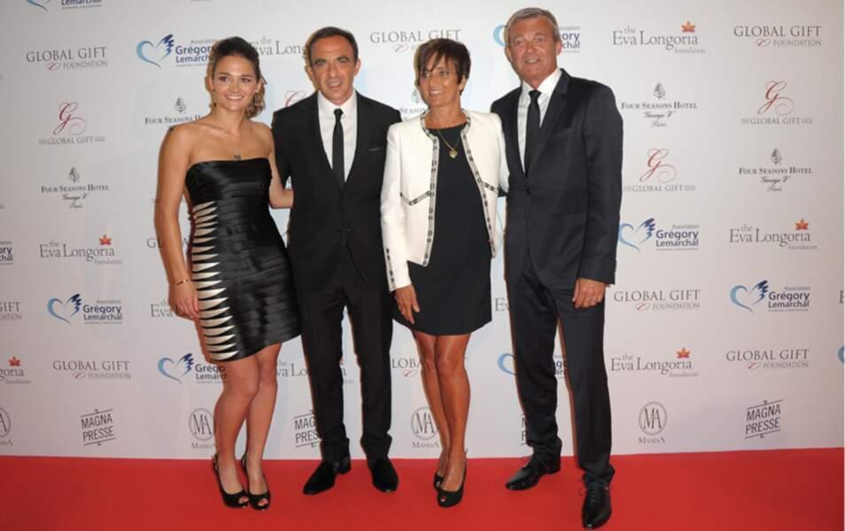 Leslie, Pierre et Laurence Lemarchal et Nikos Aliagas