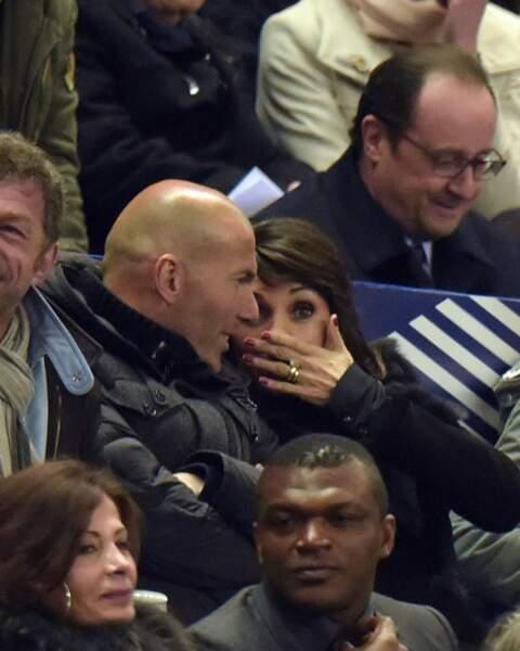 François Hollande était assis juste au dessus