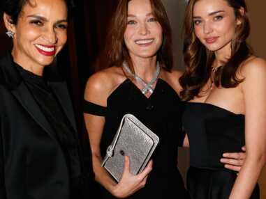 Carla Bruni, Miranda Kerr et Scarlett Johansson à la soirée Bulgari