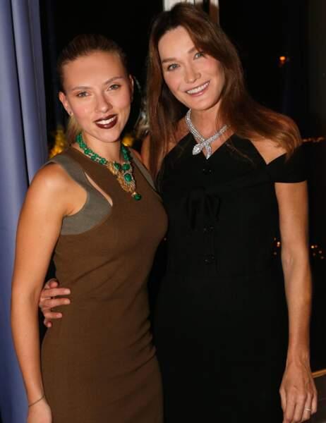 Scarlett Johansson et Carla Bruni