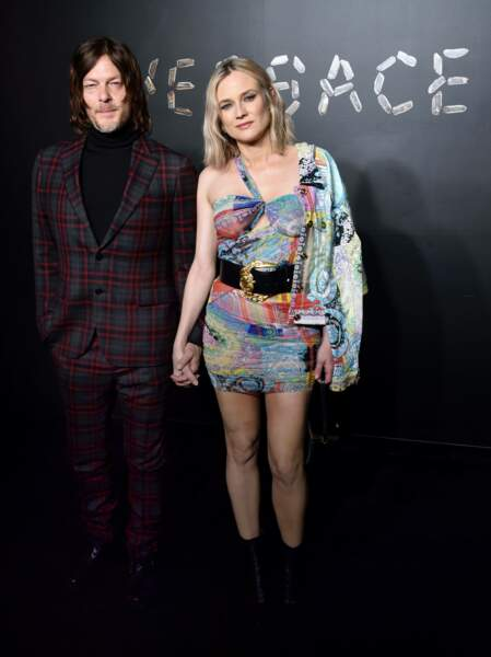 Diane Kruger et Norman Reedus au défilé Versace, le 2 décembre 2018, à New York