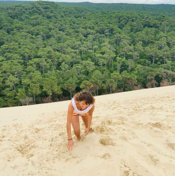 La Dune du Pyla est aussi un endroit qu'elle apprécie beaucoup