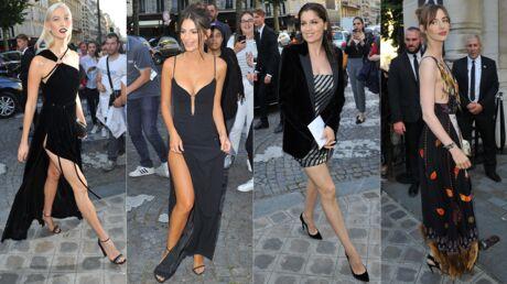 PHOTOS Emily Ratajkowski décolletée et en robe fendue, Laëtitia Casta scintillante au dîner de la Fondation Vogue
