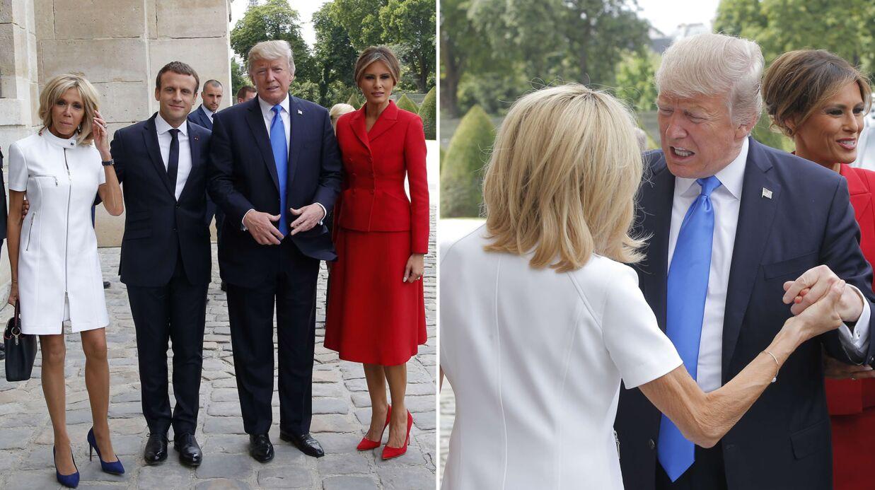 Donald Trump: beaucoup trop enthousiaste en saluant Brigitte Macron, il ne veut plus la lâcher