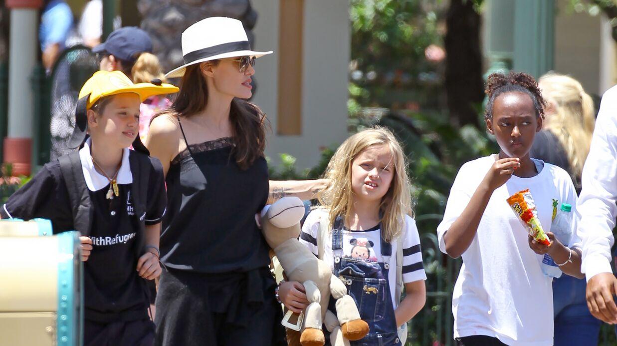 PHOTOS Angelina Jolie de sortie à Disneyland pour l'anniversaire de Vivienne et Knox