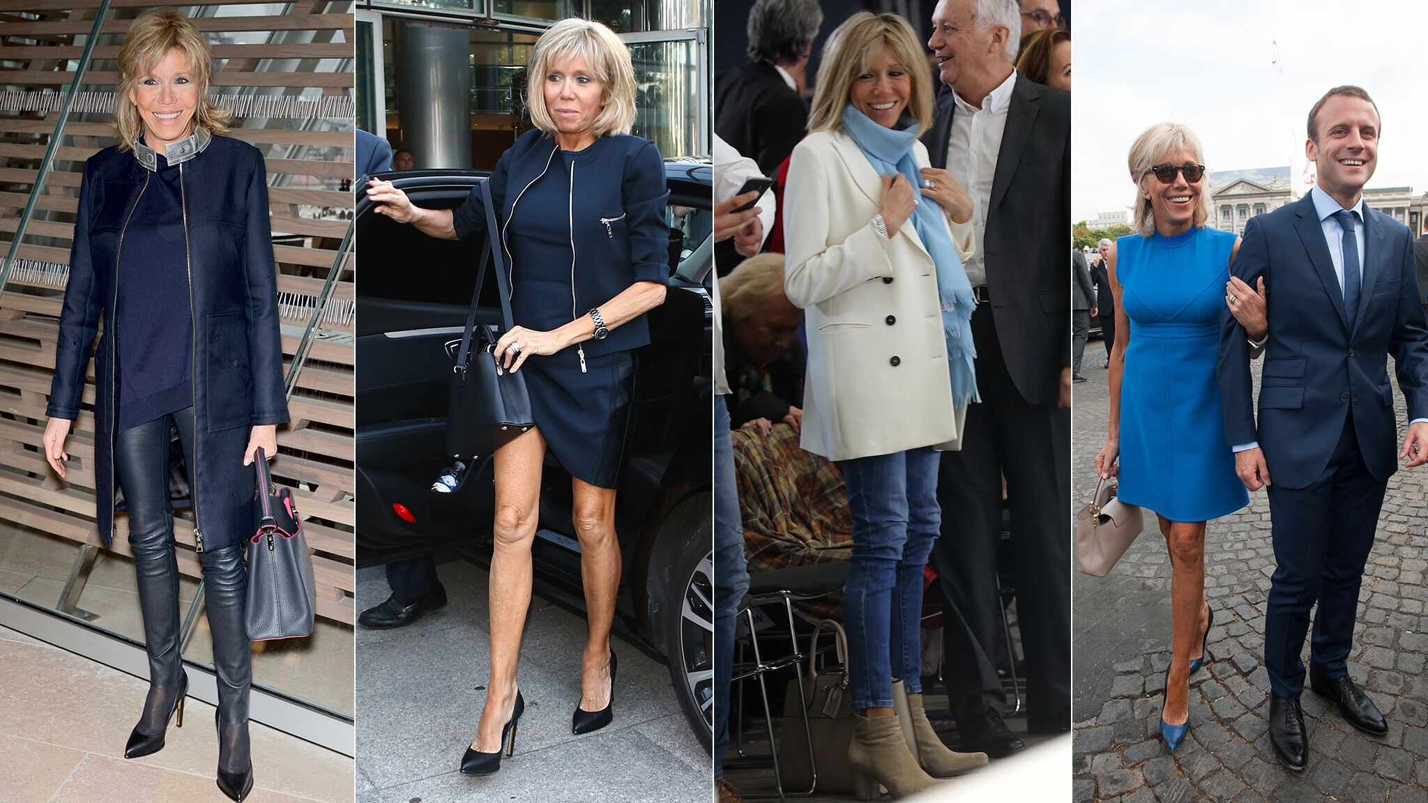 22e64142acf7 PHOTOS Brigitte Macron   a-t-elle changé de style depuis qu elle est première  dame   - Voici