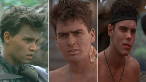 PHOTO Johnny Depp retrouve Charlie Sheen et Kevin Dillon pour les 30 ans du film Platoon