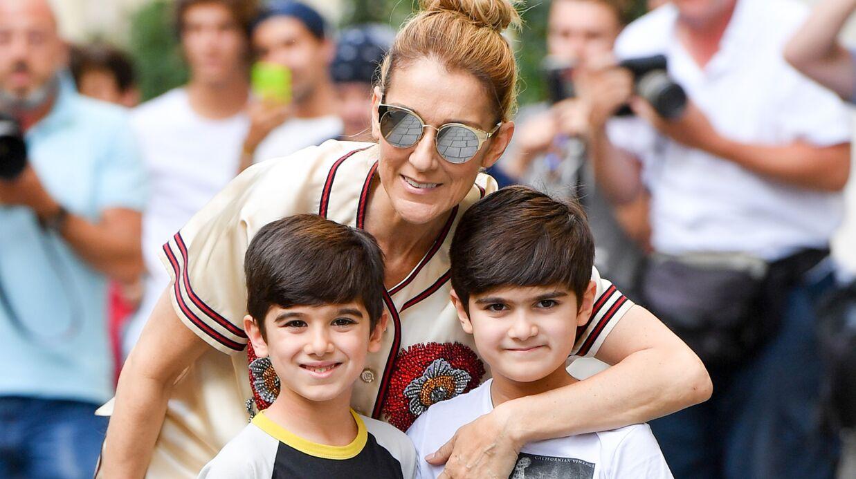 PHOTOS Céline Dion pose avec ses jumeaux: une famille heureuse