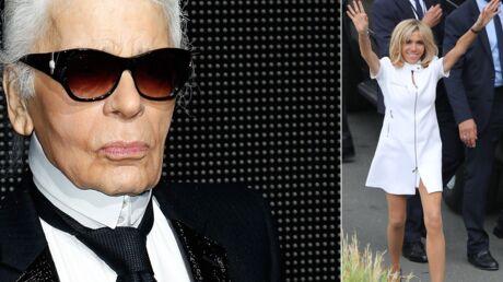 Karl Lagerfeld a flashé sur Brigitte Macron