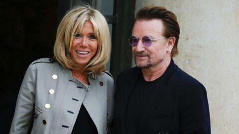PHOTOS Bono charmé par Brigitte et Emmanuel Macron: «C'était vraiment incroyable»