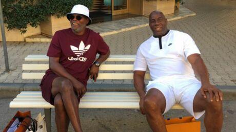 En vacances en Italie, Samuel L. Jackson et Magic Johnson présentés comme des migrants