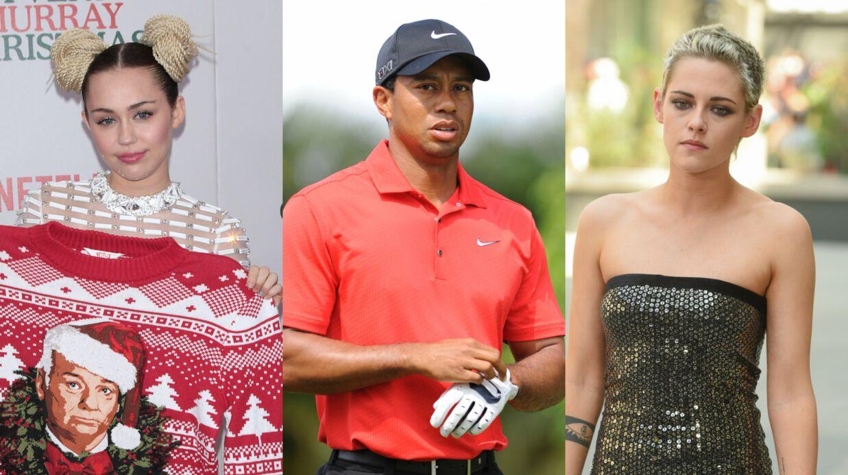 Des photos nues de Miley Cyrus, Kristen Stewart et Tiger Woods publiées sur la toile