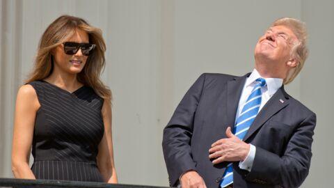 PHOTOS Quand Donald Trump regarde l'éclipse solaire… sans lunettes