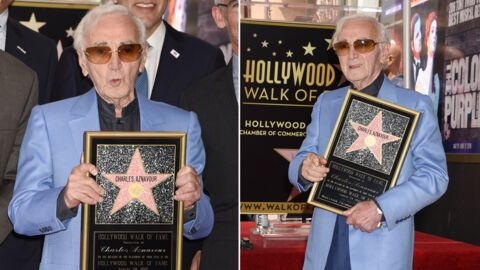 PHOTOS Charles Aznavour inaugure son étoile sur Hollywood Boulevard
