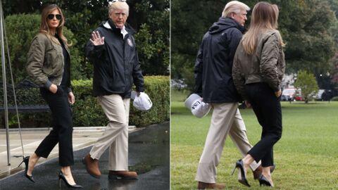 PHOTOS Melania Trump: ses stilettos pour aller voir les sinistrés de l'ouragan Harvey font rire Internet
