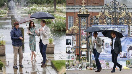 PHOTOS William, Harry et Kate Middleton visitent un jardin éphémère en mémoire de Diana