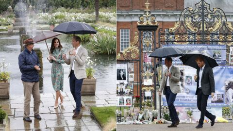 PHOTOS William, Harry et Kate Middleton visitent un jardin éphémère en mémoire de Diana