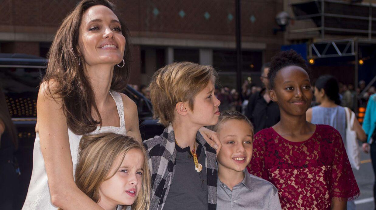 PHOTOS Angelina Jolie: tapis rouge avec ses enfants, les jumeaux ont bien changé