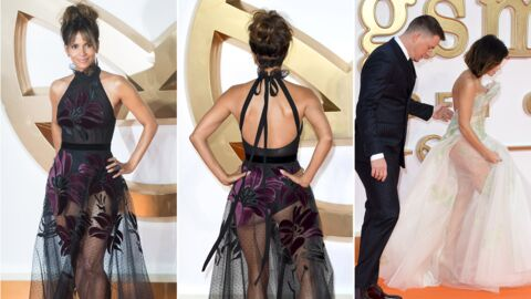 PHOTOS Halle Berry ultra sexy en robe transparente, elle dévoile son fessier