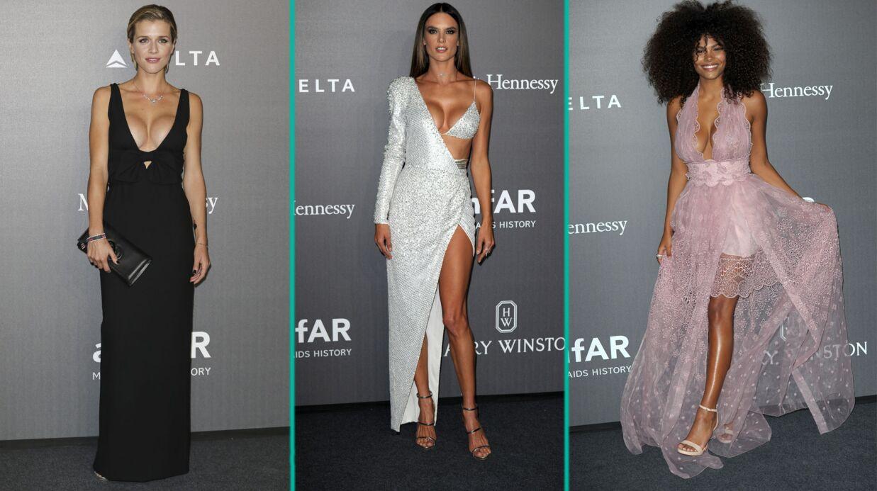 PHOTOS Gala de l'amfAR: Tina Kunakey et Alessandra Ambrosio dévoilent leurs décolletés sexy