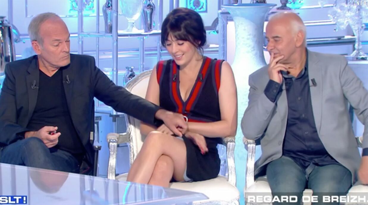 VIDEO Laurent Baffie remonte la robe de Nolwenn Leroy
