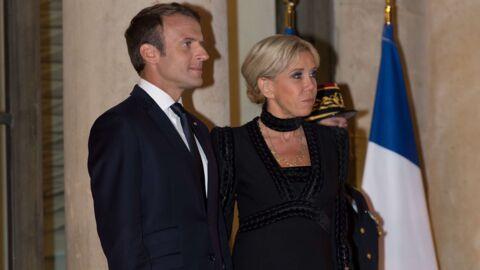 PHOTOS Brigitte Macron ultra chic en petite robe noire pour un dîner d'état à l'Elysée