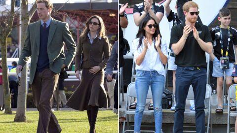 PHOTOS Kate Middleton, Meghan Markle: deux styles à l'opposé pour leurs premières apparitions publiques