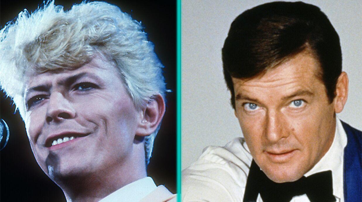 David Bowie: gêné par un Roger Moore très envahissant, il se cachait pour lui échapper
