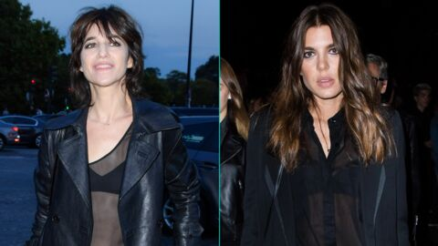 PHOTOS Charlotte Gainsbourg et Charlotte Casiraghi tout en transparence au défilé Saint Laurent