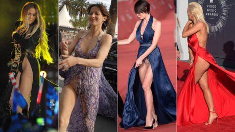 PHOTOS Sophie Marceau, Jennifer Lopez… Ces stars qui en montrent trop en robe fendue
