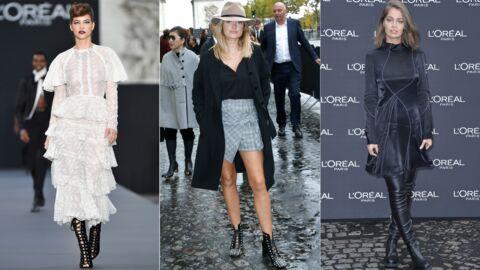 PHOTOS Barbara Palvin en montre trop, Caroline Receveur en mini-short pour le défilé L'Oréal