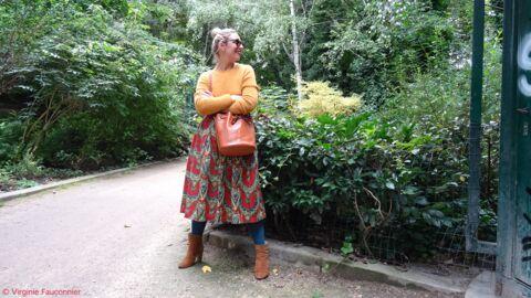Conseils Mode le défi de Virginie: comment porter les collants de couleurs