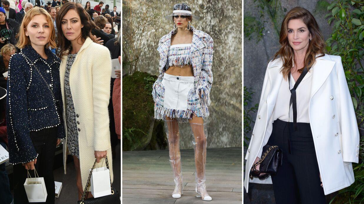 PHOTOS Kaia Gerber, la fille de Cindy Crawford, défile pour Chanel face à une foule de stars