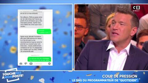 VIDEO Tension entre Quotidien et TPMP: des SMS «de pression» à un invité de Cyril Hanouna dévoilés