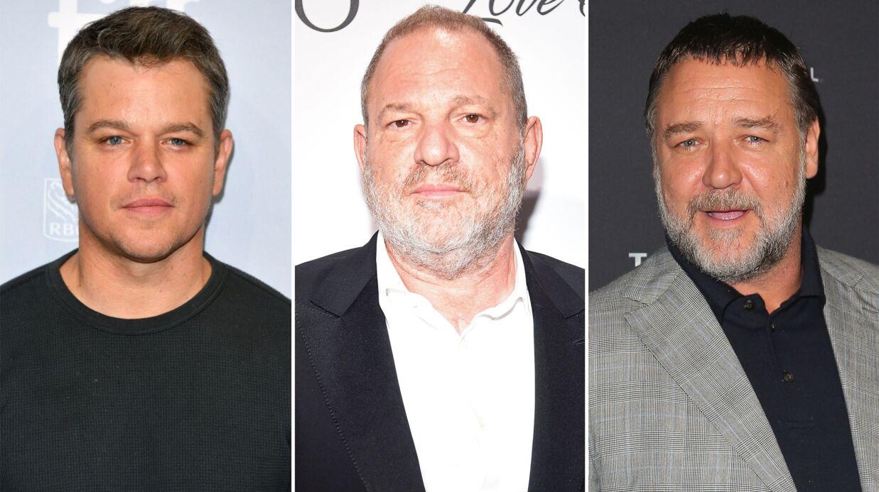 Harvey Weinstein: une journaliste accuse Matt Damon et Russell Crowe d'avoir couvert ses déviances