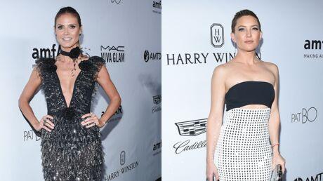 PHOTOS Heidi Klum très décolletée, Kate Hudson dévoile son nouveau look au gala de l'amfAR