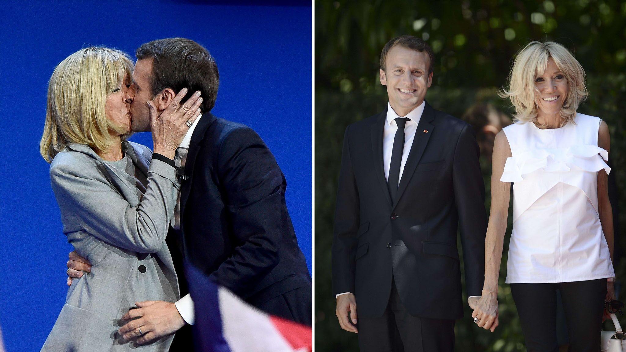 PHOTOS Brigitte et Emmanuel Macron fêtent leurs 10 ans de mariage, retour  sur leurs moments les plus tendres , Voici