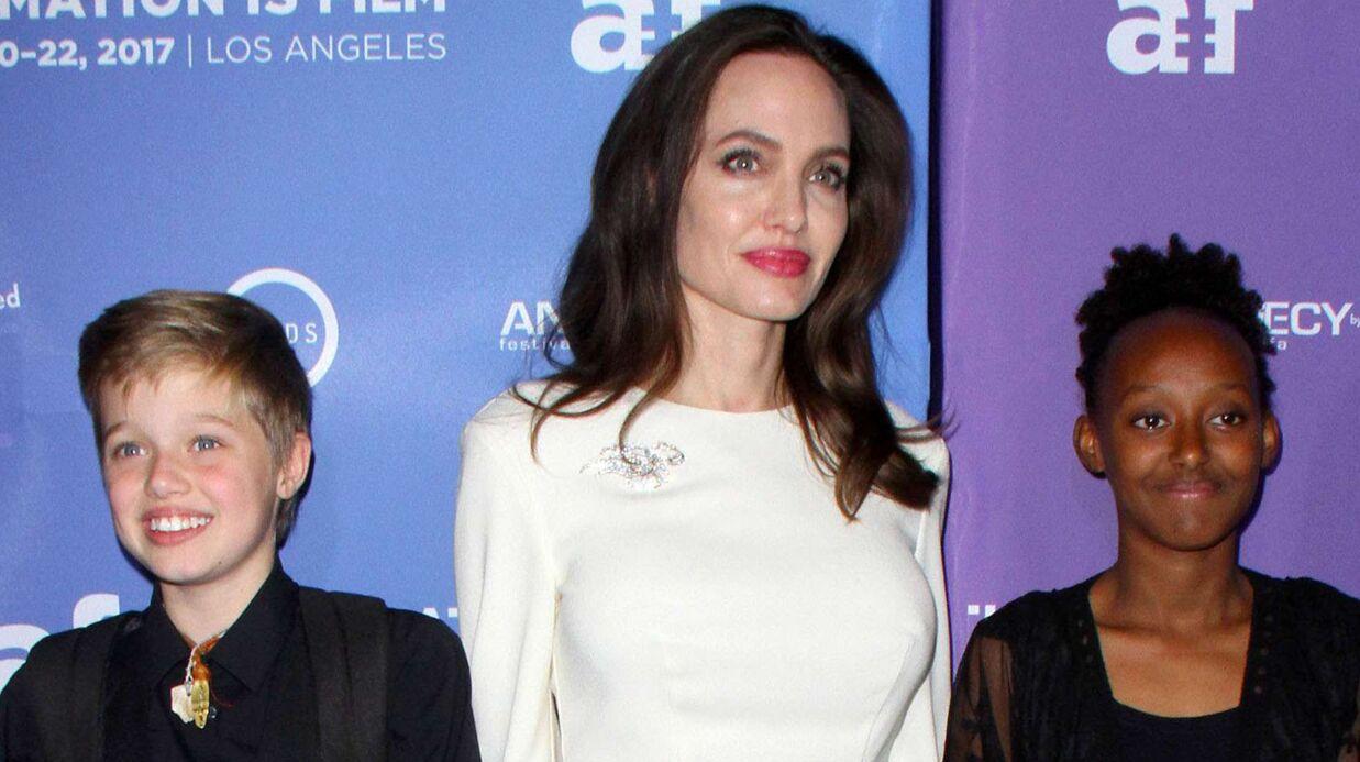 PHOTOS Angelina Jolie: entourée de ses filles Zahara et Shiloh, elle irradie de bonheur